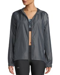 Under Armour - Iridescent Woven Hooded Logo Active Jacket - Lyst