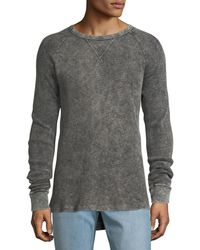Hudson Jeans - Men's Distressed Long-sleeve Thermal Shirt - Lyst