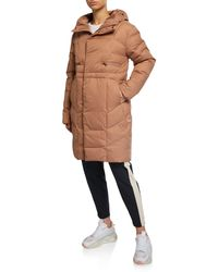 Under Armour Ua Armor Quilted Down Parka Coat - Brown