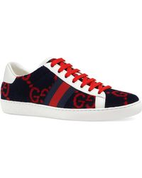 Gucci Women's Ace GG Terry Cloth Trainer