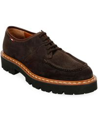 Bally Lyndon Suede Derby Shoes - Brown