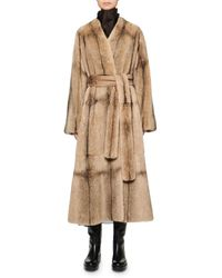 The Row Tanilo Mink Fur Coat - Natural