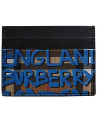 Burberry - Men's Sandon Graphic-print Card Case - Lyst
