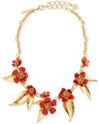 Oscar de la Renta - Delicate Flowers Collar Necklace - Lyst