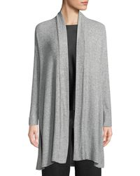 Natori - Ulla Rib-knit Long Lounge Cardigan - Lyst