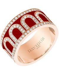 Davidor L'arc De 18k Rose Gold Diamond Ring - Grand Model - Multicolour