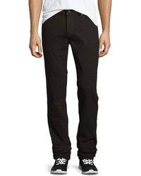 J Brand - Men's Kane Straight-leg Herringbone Melange Jeans - Lyst