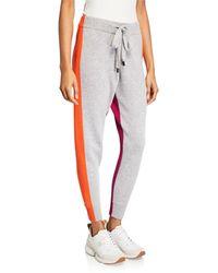 Zoe Jordan Moss Colorblock Cashmere Pants - Multicolor