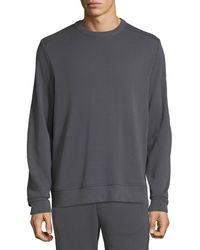 Vince Men's Crewneck Ottoman Sweatshirt - Gray