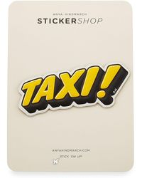 Anya Hindmarch | Taxi! Sticker For Handbag | Lyst