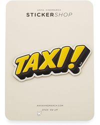 Anya Hindmarch - Taxi! Sticker For Handbag - Lyst