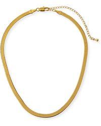 Fallon - Liquid Herringbone Choker Necklace - Lyst
