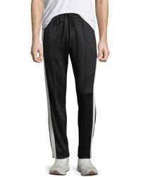 Vince Men's Colour Block Track Trousers - Black