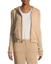 Frank & Eileen - Metallic Splatter Zip-front Hooded Jacket - Lyst