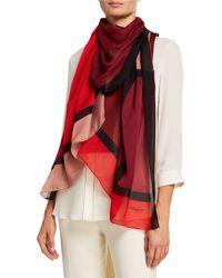Ferragamo - Colorblock Silk Scarf - Lyst