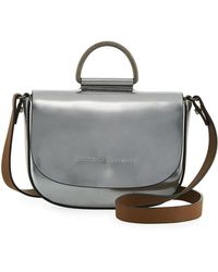 Brunello Cucinelli - Mirror Leather Top-handle Bag - Lyst