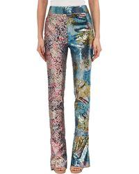 Halpern - Sequined Mixed-pattern Straight-leg Pants - Lyst