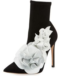 Sophia Webster - Lilico Suede Ankle Boot With 3d Flower - Lyst
