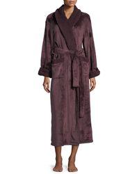 Natori Plush Long Robe - Blue