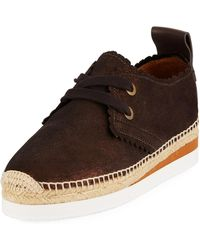 See By Chloé - Platform Espadrille Sneakers - Lyst