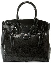 Ralph Lauren - Ricky 33 Laser-tooled Soft Top Handle Bag - Lyst