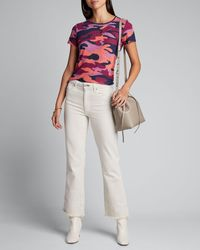 Mother The Itty Bitty Sinful Printed Tee - Multicolor