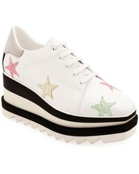 992422cc2c8a Lyst - Stella McCartney Rose Gold Sneak-elyse Stars Sneakers in Pink