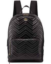 9d3fd116411b Lyst - Gucci Gg Marmont Animal Studs Leather Backpack in Black