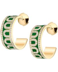 Davidor L'arc De 18k Yellow Gold Diamond Hoop Earrings - Metallic