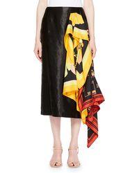 Dries Van Noten | Spes Side-scarf Skirt | Lyst