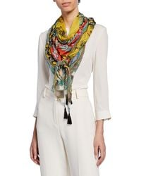 Barena Patchwork Scarf in Gray - Lyst