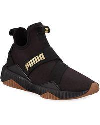 PUMA Women's Defy Mid Sparkle Sneakers - Black
