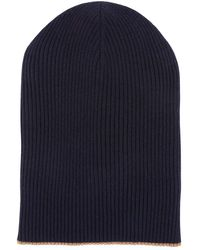 Lyst - Brunello Cucinelli Cashmere Ribbed Hat With Fold-over Brim in ... 9ca86acb9ff7
