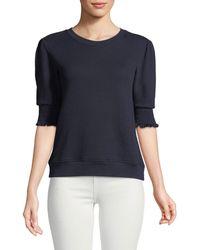 Joie - Maita Short-sleeve Cotton Top - Lyst