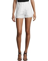 McQ - Lace High-rise Shorts - Lyst