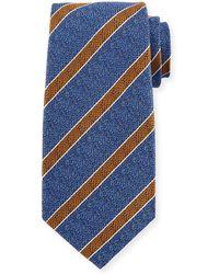 Kiton - Textured Medium Stripe Silk Tie - Lyst