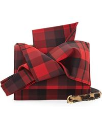 N°21 - Tartan Small Bow Shoulder Bag - Lyst