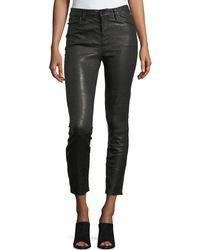 J Brand - Ruby Lamb Leather Skinny-leg Pants - Lyst