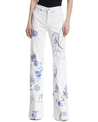 Ralph Lauren Collection - 143 Embroidered Wide-leg Jeans - Lyst