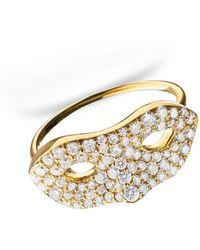 Monica Rich Kosann   18k Yellow Gold Mask Ring   Lyst