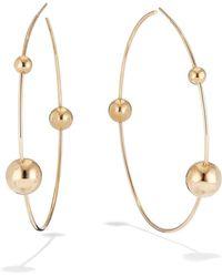 Lana Jewelry - Hollow Ball Wire Hoop Earrings - Lyst