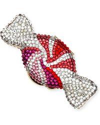 Judith Leiber - Swirled Candy Crystal Pillbox - Lyst
