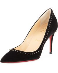 223f8eeede54 Lyst - Christian Louboutin Escarpic Spiked Patent Leather Pump in ...
