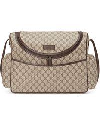de5f094907f Gucci - Basic GG Supreme Canvas Diaper Bag - Lyst