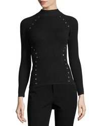Thierry Mugler | Star-stud Mock-neck Sweater | Lyst