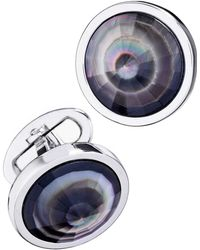 Jan Leslie - Pyramid Sphere Cuff Links With Abalone - Lyst