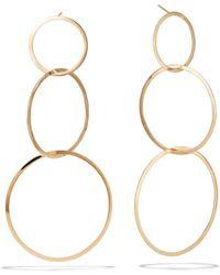 Lana Jewelry 14k Large 3 Flat-link Hoop Earrings - Metallic