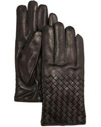 Bottega Veneta - Men's Woven Leather Gloves - Lyst