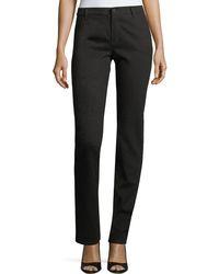 Lafayette 148 New York | Thompson Snakeskin Stretch-jacquard Slim-leg Jeans | Lyst