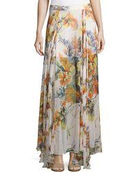 Haute Hippie - Chance Floral-print Silk Maxi Skirt - Lyst